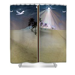 Silent Night - Gently Cross Your Eyes And Focus On The Middle Image Shower Curtain by Brian Wallace