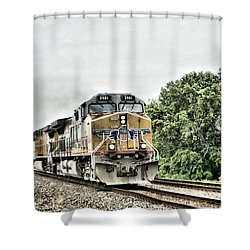 Silent Occupation Shower Curtain by Joe Russell