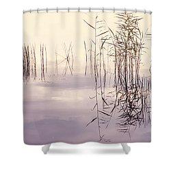 Silent Rhapsody. Sacred Music Shower Curtain by Jenny Rainbow