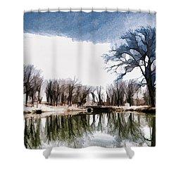 Silent Shadows Shower Curtain