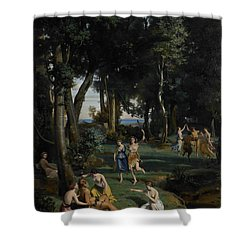 Silenus Shower Curtain by Jean Baptiste Camille Corot