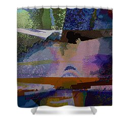 Shower Curtain featuring the photograph Silhouette And Shadows by David Pantuso