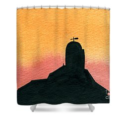 Silhouette Farm 1 Shower Curtain