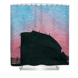 Silhouette Farm Number 1 Shower Curtain