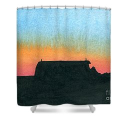 Silhouette Farmstead Shower Curtain