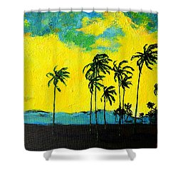 Silhouette Of Nature Shower Curtain