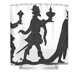 Silhouette Of Three Kings Shower Curtain by English School