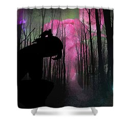 Woman Lost  Shower Curtain