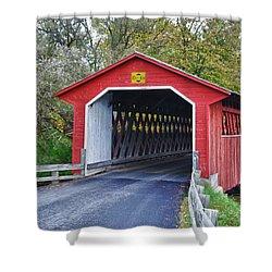 Silk Bridge 8258 Shower Curtain