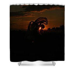 Silk Sunset Shower Curtain by Leeon Pezok
