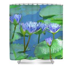 Silken Lilies Shower Curtain