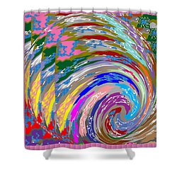 Colorful Fineart Silken Spiral Waves Pattern Decorative Art By Navinjoshi At Fineartamerica.com Shower Curtain