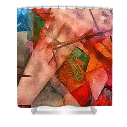 Silky Abstract Shower Curtain by Catherine Lott
