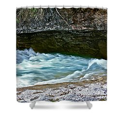 Shower Curtain featuring the photograph Silky Flow by Linda Bianic
