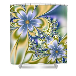 Silky Flowers Shower Curtain