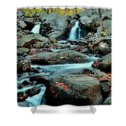 Silky Water 3 Shower Curtain by Allen Beatty