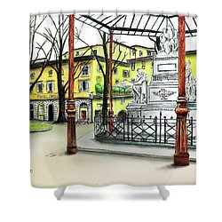 Silla Hotel Piazza Demidoff Florence Shower Curtain by Albert Puskaric