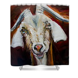 Silly Goat Shower Curtain