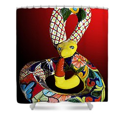 Silly Snake Shower Curtain by Phyllis Denton