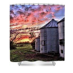 Silo Sunset Shower Curtain