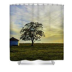 Silos At Sunset Shower Curtain