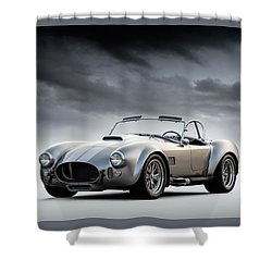 Silver Ac Cobra Shower Curtain