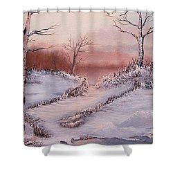 Silver Birch 2 Shower Curtain