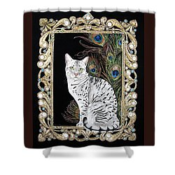 Silver Egyptian Mau Shower Curtain