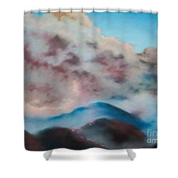 Silver Fire Shower Curtain