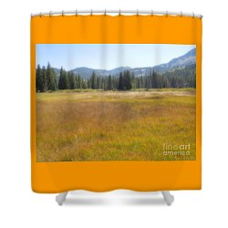 Silver Lake Area Big Cottonwood Canyon Utah Shower Curtain by Richard W Linford