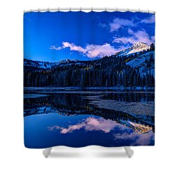 Silver Lake Shower Curtain by Dustin  LeFevre