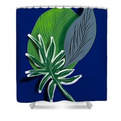 Shower Curtain featuring the digital art Silver Leaf And Fern II by Christine Fournier