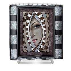 Silver Memories 220414 Framed Shower Curtain