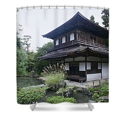 Silver Pavilion - Kyoto Japan Shower Curtain by Daniel Hagerman