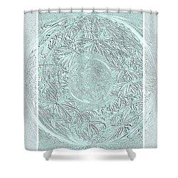 Silver Ring Shower Curtain by Oksana Semenchenko