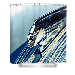 Profile In Chrome II Shower Curtain by Caitlyn  Grasso