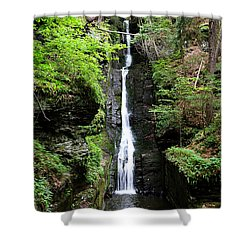 Shower Curtain featuring the photograph Silver Thread Falls by Trina  Ansel