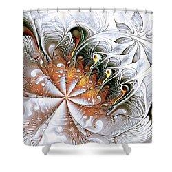 Silver Waves Shower Curtain by Anastasiya Malakhova