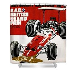 Silverstone Grand Prix 1969 Shower Curtain