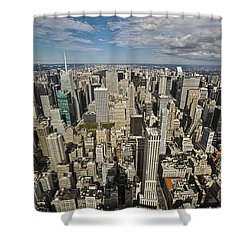 Shower Curtain featuring the photograph Sim City by Mihai Andritoiu