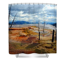 Simmering Color Shower Curtain