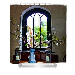 Shower Curtain featuring the photograph Simple Elegance by Charlie and Norma Brock