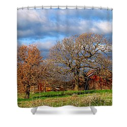 Simple Hideaway  Shower Curtain