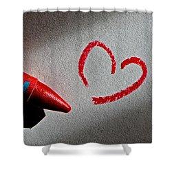 Simple Love Shower Curtain by Bill Owen