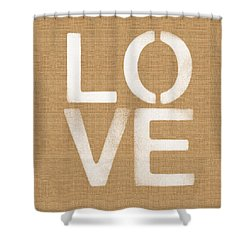 Simple Love Shower Curtain