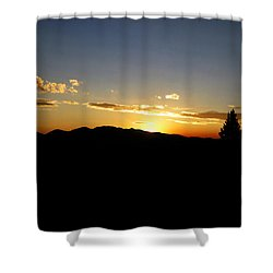 Simple Sunset Shower Curtain by Jeremy Rhoades