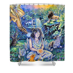Simply Elemental Shower Curtain