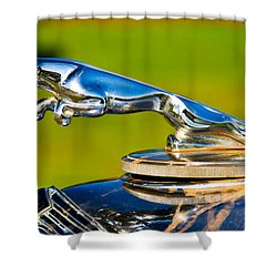 Simply Jaguar-front Emblem Shower Curtain