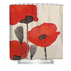 Simply Poppies 1 Shower Curtain