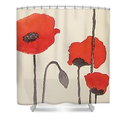 Simply Poppies 2. Shower Curtain